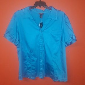Lane Bryant blue shirt